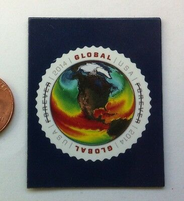 USPS STAMP display magnet (GLOBAL TEMPERATURE)