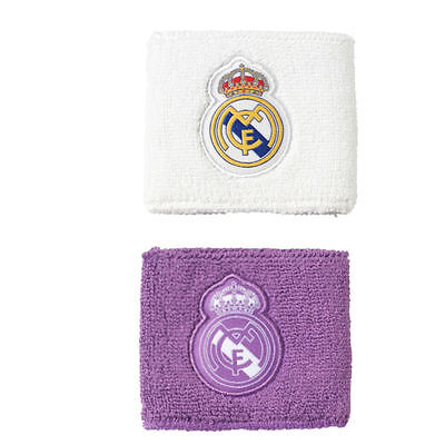Adidas Real Madrid Wristbands Sweat Band Football Soccer S94901 White Purple New