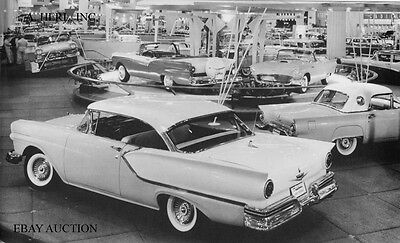 Ford Fairlane and Thunderbird 1957 Ford car show stand photo photograph
