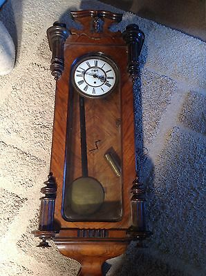 Antique Vienna Clock For Restoration 99P Start No Reserve