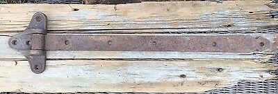 Primitive Antique Barn Door Strap  Hinge Hand Forged Salvaged