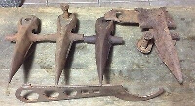 Lot Of Primitive Rustic Farm Tools McCormick Deering  Stamped For Scythe Cutter