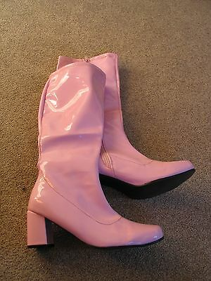 Fancy Dress Party GOGO Boots - 60s & 70s Party Boots Size 8 Worn Once
