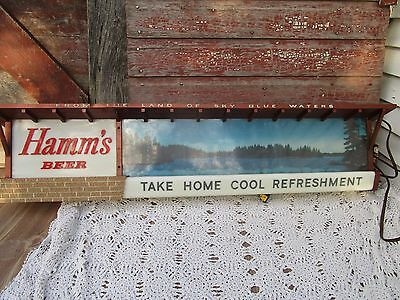 Vintage Hamms Brewing Co. Lighted Beer Sign no 616 Minnesota Lake man Cave Decor