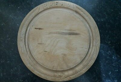 Bread board vintage antique carved country kitchen
