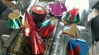 box of 100 various style party hats