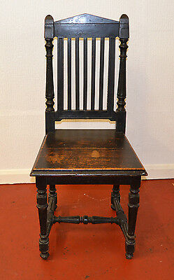 Antique Gothic Solid Wood Hall Chair - 608