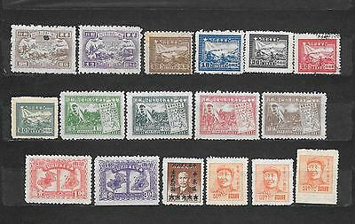 CINA ORIENTALE   -  17 STAMPS lot lotto