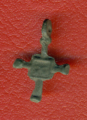 Russia Kiev type Bronze Cross Pendant Viking time 10-12th ca 1100 AD RARE 4521