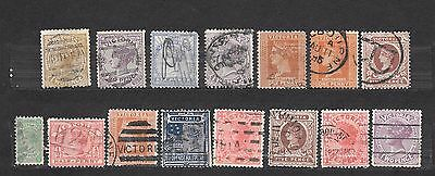 VICTORIA 15 stamps  - colonie inglesi -   lot lotto
