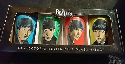 The Beatles collector's series pint glasses 4-pack