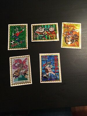 RARE Warner Bros Olympic Looney Tunes Stickers 1996 Set Of 5