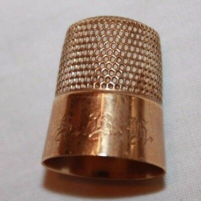 Beautiful Antique 14K Gold Sewing Thimble