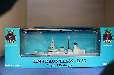 HMS Dauntless D33 type 45 destroyer from Triang Minic ships, in special box
