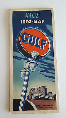 Vintage Gulf Oil Road Map of Maine