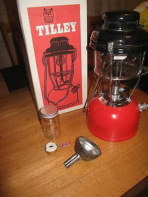 Tilley Lamp Red X246B boxed stormlight new wick & jar funnel