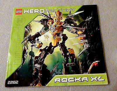 LEGO Hero Factory Instruction Manual Booklet Only #2282 Rocka XL