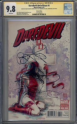 Daredevil End of Days #3 CGC 9.8 SS Signed Miller Bendis Sienkiewicz