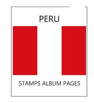 Peru Stamps Album Pages 1857-2010 - Pdf File (303 Pages Ilustrated Color)