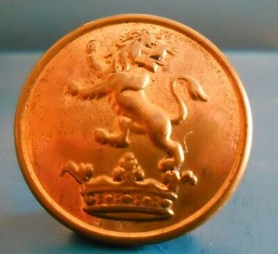 Gilt Livery Button . Lion Above A Coronet .