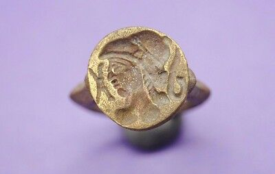 Interesting undated brass seal ring