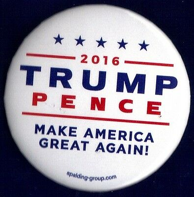 """2016 Donald Trump & Mike Pence 2-1/4"""" / Campaign Button(Pin 39W)"""