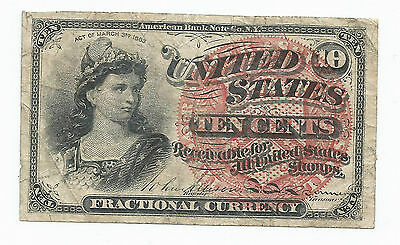 Series 1863 United States 10 Cent Fractional Currency