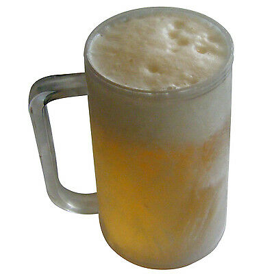 Frosty ice cold beer mug glass - icy cold drink just put the mug in the freezer