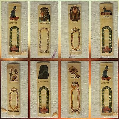 100 Bookmarks Egyptian Papyrus,Signature or stamp the name in Egyptian Cartouche