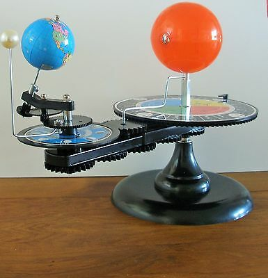 Orrery Machine.Solar System,Astrology,Space,Earth, Moon,Sun,Globes,Maps,Vintage.