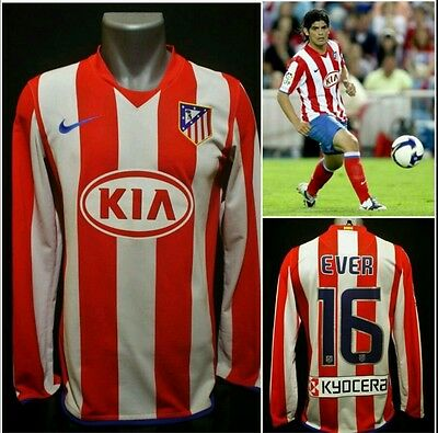 Atletico Madrid 2008/09 #16 Ever Banega shirt home jersey not match worn