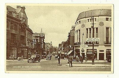 Leicester - a printed photographic postcard of Granby Street