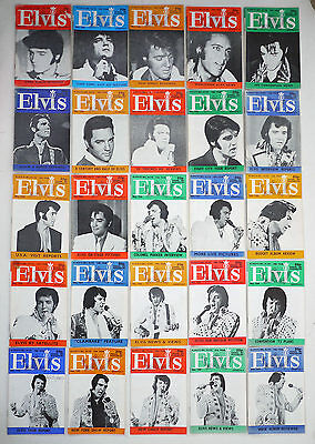 Elvis Monthly Lot of 29 - 1970's Plus Specials and Poster
