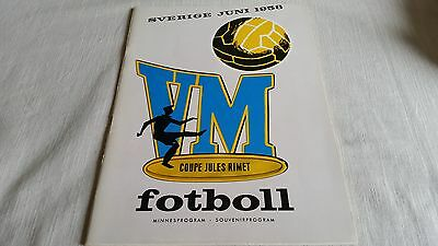 Rare General programme World Cup 1958 football England Germany Sovjet Russia