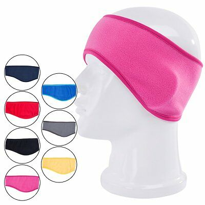 Women Mens Fleece Sport Sweat Sweatband Headband Yoga Gym Stretch Head Band Hair