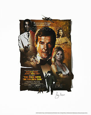 The Man With The Golden Gun - Ltd Ed James Bond Lithograph - SIGNED by Moore!