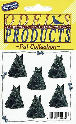 12 Mini- Aufkleber Hunde Scottish Terrier [o154]