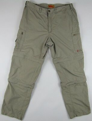 """Fjallraven Sipora MT Trousers convertible """"3 in 1"""" summer travel pants mens 52 L"""