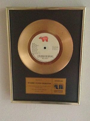 """Bee Gees Rare Official Cria Gold Disc Awarded To Rso For """"you Should Be Dancing"""""""