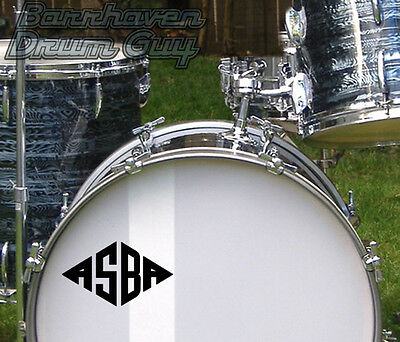 ASBA, Vintage, Repro Logo - Adhesive Vinyl Decal, for Bass Drum Reso Head
