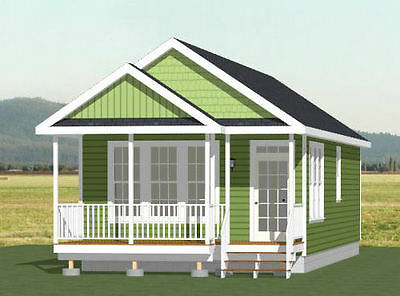 18x40 Tiny House -- 720 sqft -- PDF Floor Plan -- Model 1