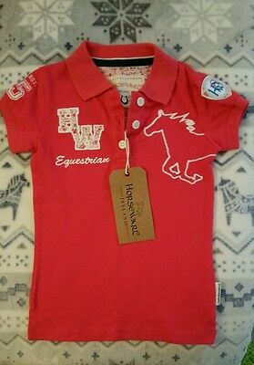 Horseware Pique Polo shirt. Aged 3/4 Rose pink colour  *** FREE POSTAGE ***
