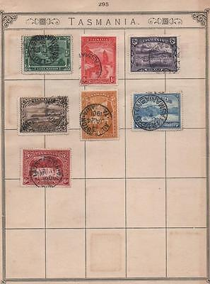 TASMANIA: Used Examples - Ex-Old Time Collection - 2 Sides of Page (5364)