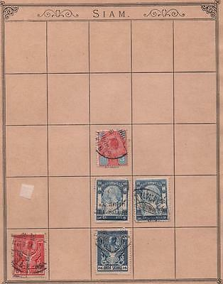 THAILAND: Used Examples - Ex-Old Time Collection - Album Page (5404)