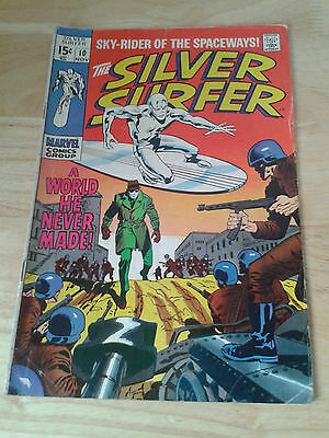Silver Surfer #10,1969 ,VG+ / VG++, cents