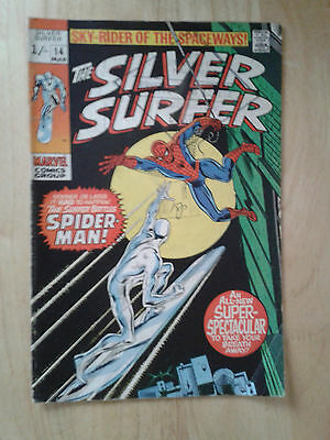 Silver Surfer vs Spider-man #14,1970 , VG+ , pence