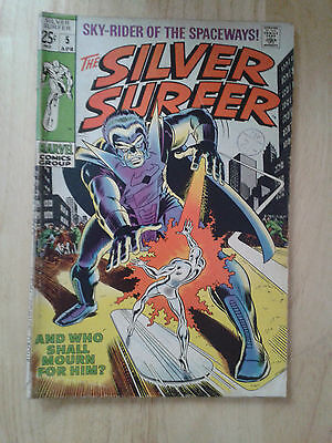 Silver Surfer #5, 1969 ,VG , cents