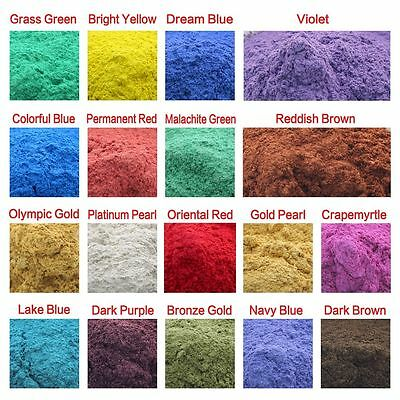50g Cosmetic Natural Mica Powder for Makeup/Soap/Eyeshadow/Lipsticks 18 Colors