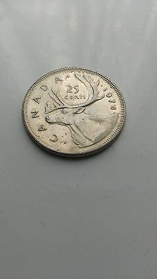 1974 canada 25 cents coin