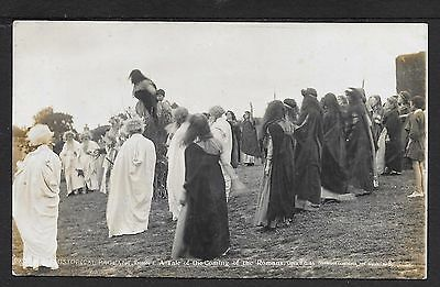 Superb R.p. Postcard Of The 1908 Pageant At Pevensey Sussex Romans Are Coming